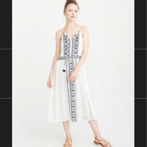 Abercrombie Embroidered midi dress